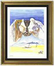 "Salvador Dali Signed & Hand-Numbered Ltd Ed ""Chalice of Love "" Lithograph Print"