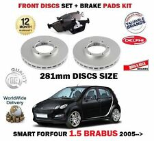 FOR SMART FORFOUR 1.5 BRABUS 2005-  FRONT BRAKE 281mm DISCS SET + DISC PADS KIT