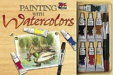 Art Tricks Painting with Watercolors with Other and PensPencils and Eraser