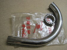 KAWASAKI NOS EXHAUST FRONT PIPE & HOLDER F1 F2 B1   18049-012 & 18069-004