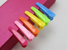 50 Mixed Bubblegum Color Plastic Prong Alligator Hair Clips Bows 35mm DIY