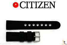 Citizen BV1085-06E 22mm Black Nylon / Leather Watch Band Strap S077621 S077648
