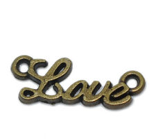 5x Amor Conector color bronce 8mmx20mm Conector bricolaje Adorno DIY