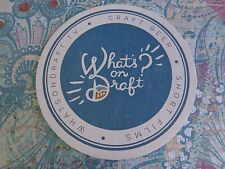 Cool Beer Coaster ** What's On Draft TV ~ Craft Beer ~ Short Films ** Breweriana