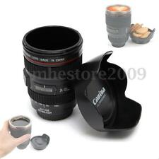380ml Camera Lens Tea Coffee Cup Hot Drinks Mug Thermos + Biscuit Tray Lid Home