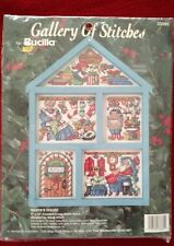 BUCILLA GALLERY OF STITCHES SANTA'S HOUSE COUNTED CROSS STITCH HUTCH KIT #33385