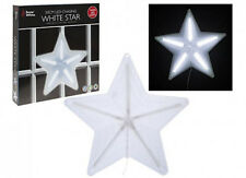 50cm LED CHASING DIGITAL FUNCTION WHITE STAR CHRISTMAS HANGING LIGHT INDOOR PVC