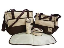5tlg Set Babytasche Wickeltasche Mutter Windeltasche 5pcs Nappy Changing Braun