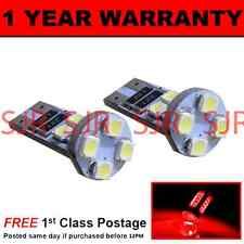 W5W T10 501 CANBUS ERROR FREE RED HI-LEVEL BRAKE LIGHT 8 LED BULBS X2 HBL101601