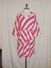 NEW MELISSA MCCARTHY Seven 7 Plus Size 1X Dress Pink Black Ivory Stretch