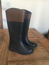 BNNT ZARA GIRLS BOYS BLACK RIDING WELLINGTON BOOTS FESTIVAL  UK 3 EU 24/25  Z203