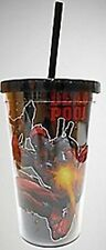 "MARVEL COMICS DEADPOOL "" ACTION POSE"" 16OZ TUMBLER WITH STRAW"