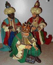 Possible Dreams ? Clothtique Midwest 3 Wise Men / Kings Figures  EUC 1991 Santa