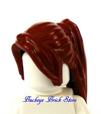 LEGO Dark Red Minifig Hair, Ponytail Long with Side Bangs