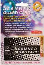 Protect Your Wallet w/ Scanner Guard - Against RFID Credit Card Theft 2 Cards