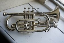 Besson 1000 Series Student Cornet, Silver-Plate Finish