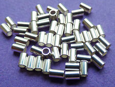2mm X 3mm plata esterlina 925 Tubo sin soldadura Crimp 50 un..