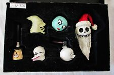 The NIGHTMARE BEFORE CHRISTMAS 6 Piece Set Jack Sally Vinyl Heads 1213/1500