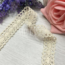 12m Vintage Ivory Cream Lace Bridal Wedding Trim Ribbon Craft Cotton Crochet DIY