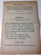 Regio Decreto 7 settembre1887 Tassa di famiglia Comune di Appecchio (Pesaro)-640