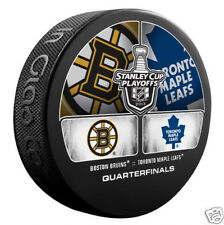 BOSTON BRUINS vs TORONTO MAPLE LEAFS 2013 Quarterfinals NHL DUELING LOGO PUCK