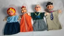 4 Vintage 1970's Mr. Rogers Neighborhood Hand Puppets Toys Dolls