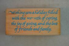 Joy of Giving Wood Mounted Rubber Stamp, Penny Black, 820E, Christmas, Holiday