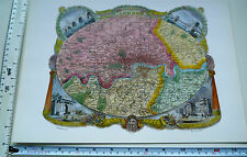 "Old Antique colour map Victorian London, England: c1830's: Moule: 9.5"" x 12"""