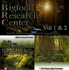 DVD Vol 1-2 RARE Private Bigfoot Sasquatch Research Expedition Documentary Video