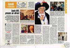 Coupure de presse Clipping 1988 (2 pages) Louis XVI procès en direct