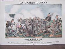 GRAVURE 1914 LA GRANDE GUERRE BATAILLE DE L'AISNE HEROÏQUE SANG FROID DES ALLIES