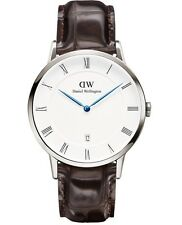 Daniel Wellington Watch * 1122DW Dapper York 38MM Croc Brown Leather COD PayPal