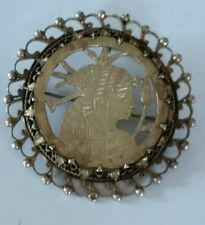 Vintage Egyptian revival brooch pendent combination