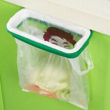 Folding Hanging Trash Rubbish Bag Holder Garbage Rack Cupboard Storage Hanger P