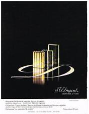 PUBLICITE  1969   DUPONT  briquets d'orfévrerie