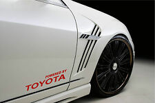 Powered by TOYOTA SPORT Racing Decal sticker emblem logo RED Pair
