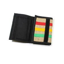 Rasta Wallet Purse Jute Dread Roots Jamaica Cool Runnings Babylon Reggae RGY