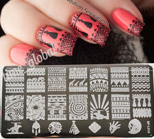 Aztec Pattern Nail Art Stamp Template Image Plate BORN PRETTY BP-L010