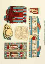 A4 Photo History of Egypt 1901 Decorated wrappings from a mummy Print Poster