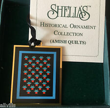 CACTUS BASKET AMISH QUILT AQ003 SHELIA'S HISTORICAL ORNAMENT COL