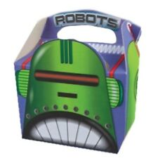12 Robot Scatole Per Alimenti Picnic Pasto Borsa Robots Divertente Luminoso