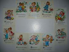 Lot  10  Cartes Postales   MABEL  LUCIE  ATTWELL   Valentine  Enfants  Children