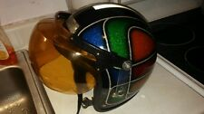 Vintage motorcycle helmet bubble shield retro collectors screaming 70s !!