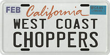 West Coast Choppers Custom Motorcycle California License Plate