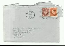 PLYMOUTH 1951 NEW YEARS EVE COVER - RAF MAURIPUR, AIR TRAFFIC CONTROL