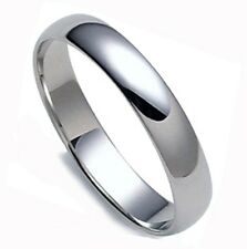 SAVE $700.- MEN'S DOMED SOLID PLATINUM 4 MM WEDDING BAND RING 1.14 MM THICK