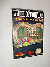 Wheel of Fortune Family Edition Nintendo NES 1987 CIB Complete Tested