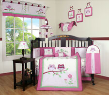 Baby Boutique Entranced Forest GEENNY 13PCS Girl Nursery CRIB BEDDING SET