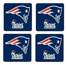 NEW ENGLAND PATRIOTS NFL COASTER & HOLDER SET OF 4 - Gloss Hardboard FREE stand
