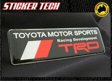 TRD BLACK RED & CHROME BADGE STICKER DECAL SUITS SR5 TOYOTA HILUX COROLLA AE86